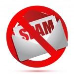 No more spam concept illustration design over white — Stock Photo