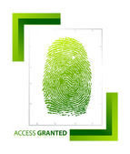 Illustration of access granted sign with thumb on isolated background — Stock Photo