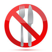 No food allowed sign over a white background — Stock Photo