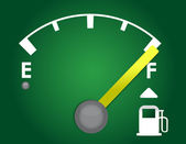 Detailed gas gage illustration design isolated on a dark green background — Stock Photo