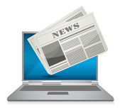 Online News concept illustration design over a white background — Stock Photo