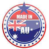 Made in Australia illustration stamp isolated over a white background — Stock Photo