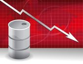 Oil prices falling down concept illustration — Stock Photo