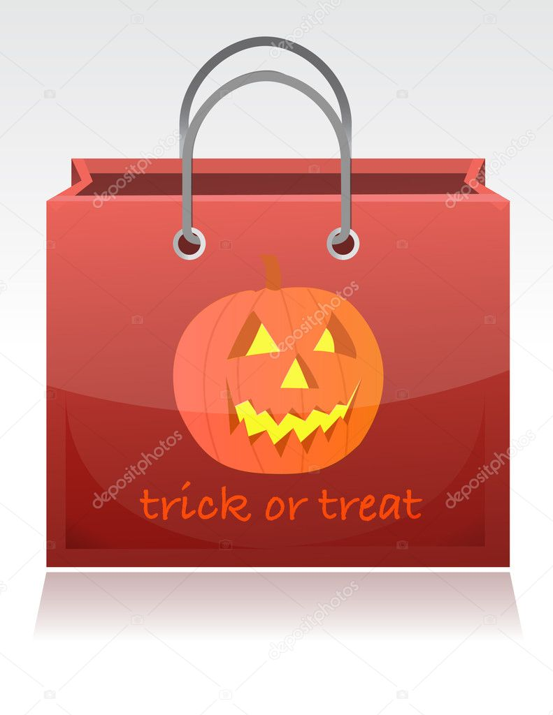 Halloween trick or treat bag illustration design — Stock Photo #6423628