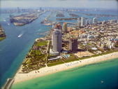 Miami Skyline - view from Plane — Stock Photo