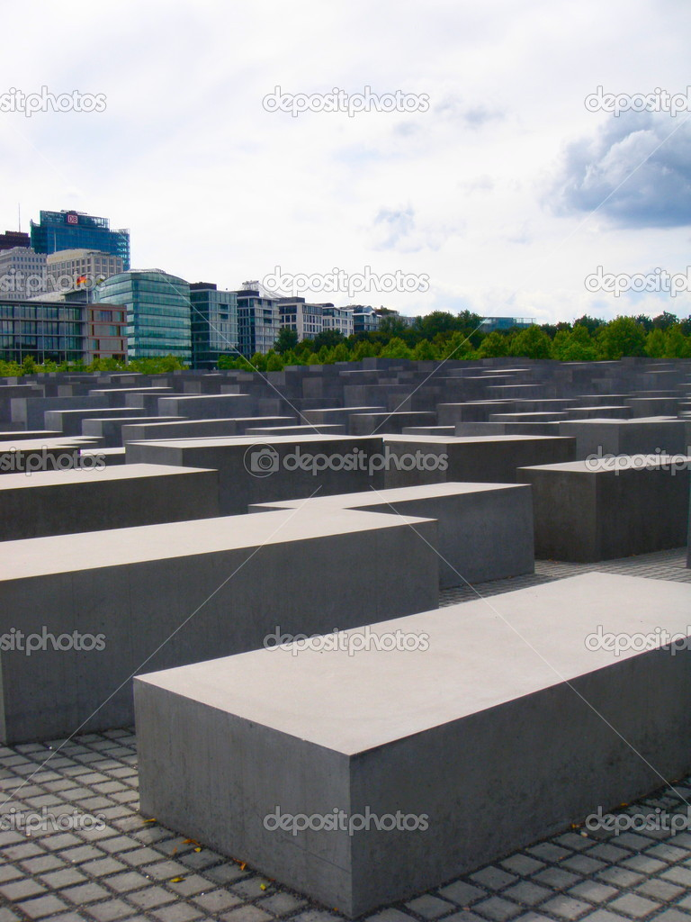 Jewish Memorial near Potsdamer Platz, Berlin, Germany   Stock Photo #6569850