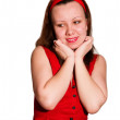 Woman in a red — Stock Photo #5531546