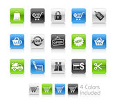 Shopping Icons // Clean Series — Foto Stock