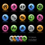 Web Navigation // Gel Color Series — Stock Photo