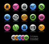 Shopping Icons // Gel Color Series — Stock Photo