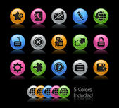 Web 2.0 Icons // Gel Color Series — Stock Photo