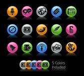 Social Media // Gel Color Series — Stock Photo