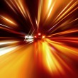 Stock Photo: Night zoom acceleration motion
