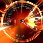 Speed on the speedometer — Stock Photo #5477757