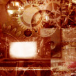 Abstract industrial engineering background - Stockfoto