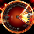 Acceleration speed motion on speedometer - Stock Photo