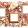 Royalty-Free Stock Photo: Frames old leather on a abstract art grunge background