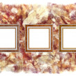 Frames old leather on a abstract art grunge background — Stock fotografie
