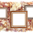 Frames old leather on a abstract art grunge background — Stockfoto