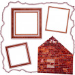 Frames old leather — Stock Photo #5478264