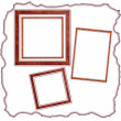 Frames old leather — Stock Photo