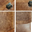 Stock Photo: Set grunge leather texture briefcase