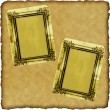 Vintage scrapbook old paper with frames — Stock Photo