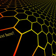 Gradient silhouette hexagonal grid pattern — Stock Photo