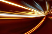 Acceleration of the motion on the night road — Stock Photo