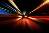 Abstract night acceleration speed motion — Stock Photo