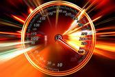 Speed on the speedometer — Stock Photo