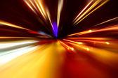 Night zoom acceleration motion — Stock Photo