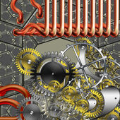 Steampunk industrial mechanism — Stock Photo