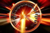Zoom acceleration motion — Stock Photo