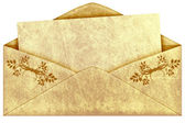 Old vintage envelope — Stock Photo