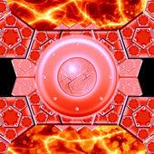 Glowing motion plasma and metal firewall — Stock Photo