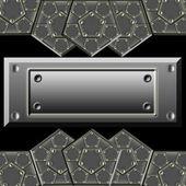 Metallic armor plates — Stock Photo