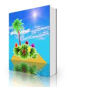 Book paradise island — Stock Photo