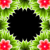 Abstract floral frame — Stock Photo