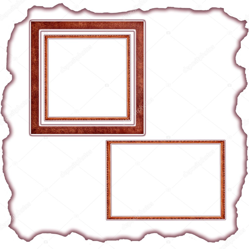 Frames old leather — Stock Photo #5478267