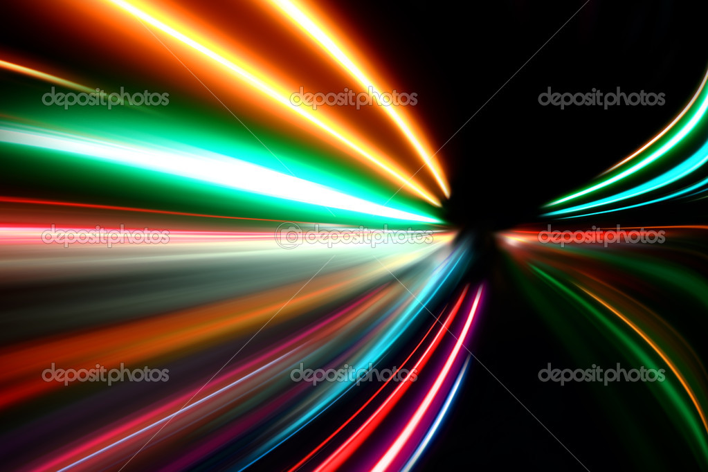 Abstract acceleration speed motion on night road — Stock Photo #5963301
