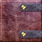 Old leather binding with clasps — Stock Photo