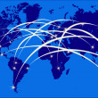 Stock Photo: Internet on world map