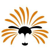 Solar lion vector illustration — Stock Vector