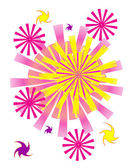 Abstract colorful background Fireworks — Stock Vector