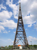 The old wooden tower radio Gliwice (wooden building the world's — Stock Photo