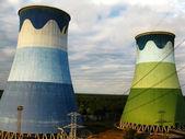 発電所冷却塔 — ストック写真