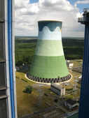 Cooling towers in power plant — Stock Photo