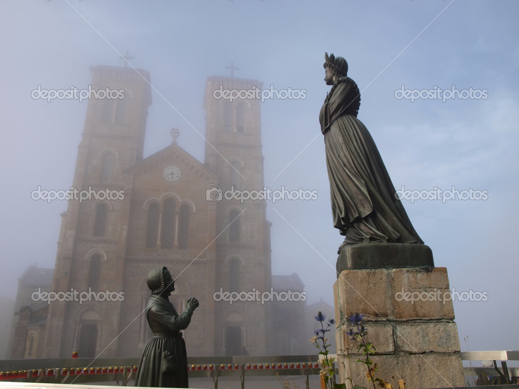 The Shrine Of Our Lady Of La Salette Stock Photo