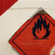 Grunge flammable symbol — Stock Photo